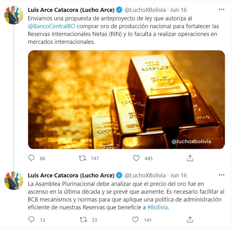 Боливия изкупуване на злато
